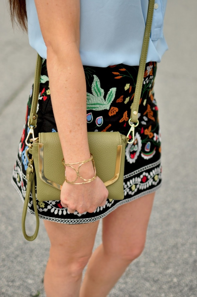Mini Skirt & Jules Smith Cuff Bangle from Rocksbox