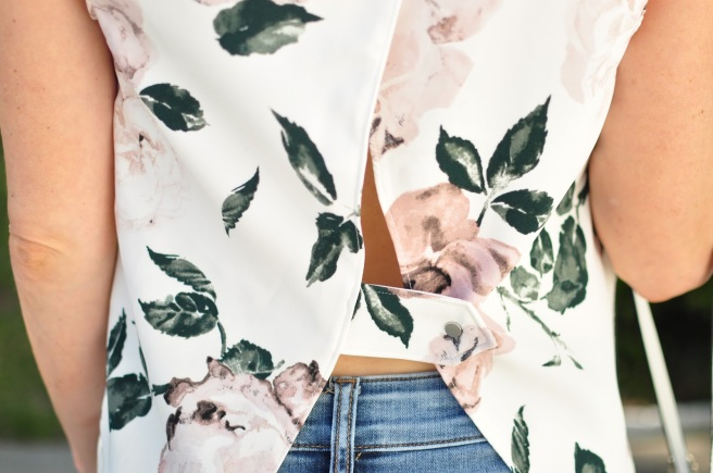 Floral Open Back Top from Dynamite Clothing